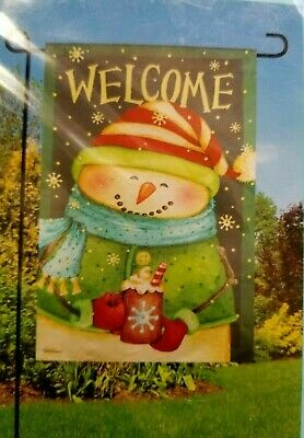 """GARDEN FLAG ~~ """"READY SET SNOW"""" ~ 12.5"""" x 18"""" ~~ NEW in PACKAGE"""