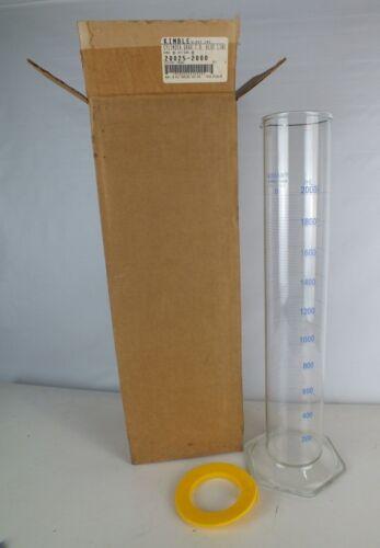 New Kimble® 20025-2000 KIMAX® 2000mL Class B Glass Graduated Cylinder