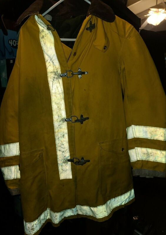 AUTHENTIC Yellow Firefighter JACKET  size 38 Nice Piece!! Look!!