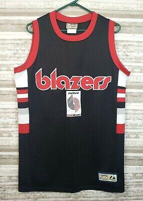 Vtg Portland Trail Blazers Majestic NBA Hardwood Classics Basketball Jersey Med
