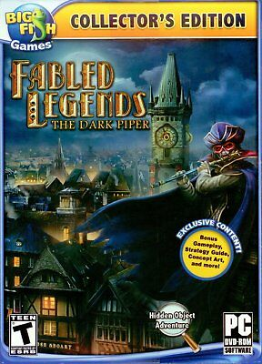 Fabled Legends The Dark Piper PC Games Windows 10 8 7 XP Computer seek find - The Dark Games