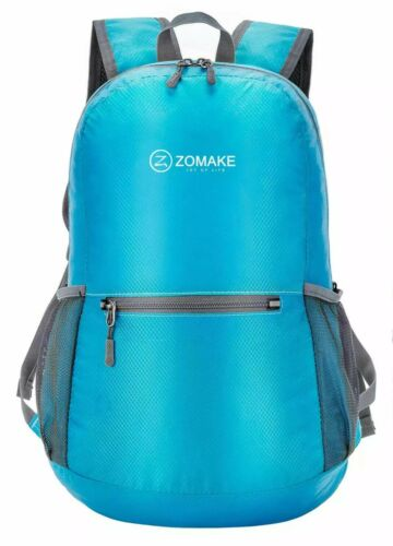 ZOMAKE Turquois Ultra Lightweight Packable Backpack H2O Resistant Hiking Daypack Camping & Hiking