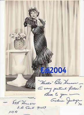 dd3542e3754 ARLINE JUDGE Vintage Original 1935 Photo SHIP CAFE   Signed RARE AUTOGRAPH  CARD