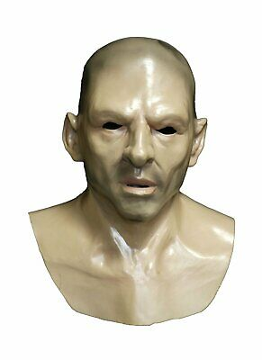 Realistic Human Face Mask Hard Man Bald Thug Adult Halloween Costume Disguise - Realistic Costume