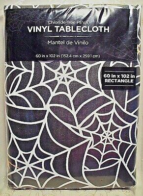 Walmart Halloween Spider Web Tablecloth Rectangle 60