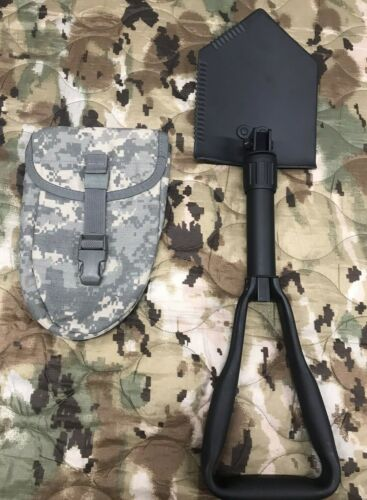 TRI Fold Shovel / Entrenching tool 5IVE Star Gear With USGI ACU Cover NEW