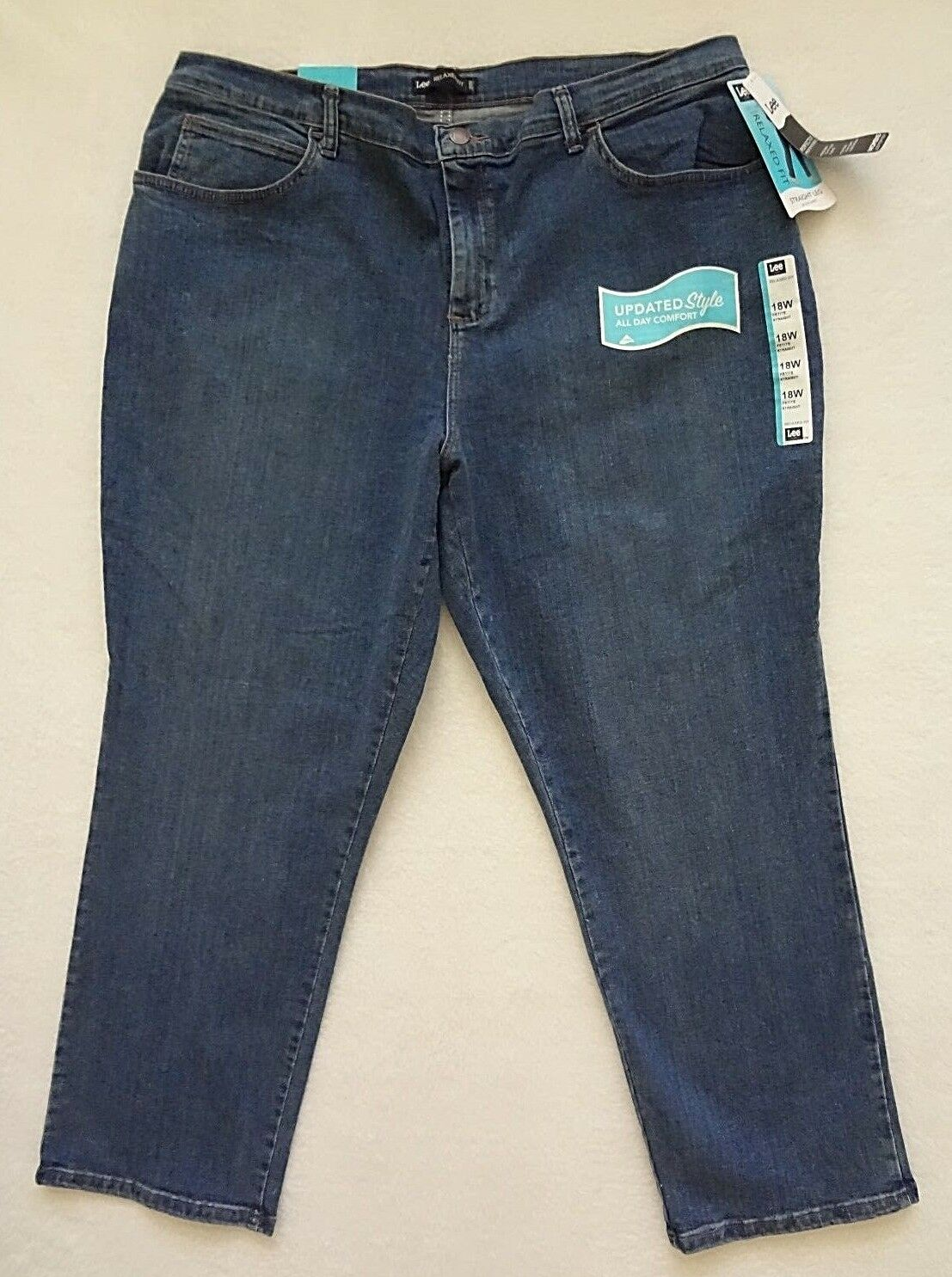 Lee Relaxed Fit Jeans Womens Size 20W Blue Straight Leg