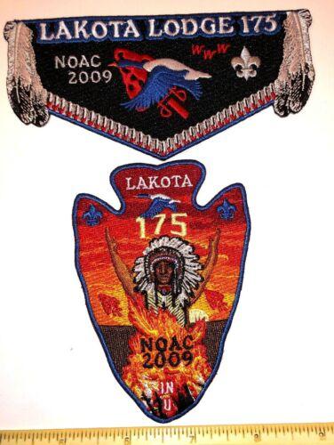 OA Lodge 175 Lakota 2 piece Blue Border Flap Set 2009 National OA Conference