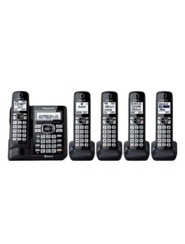 Panasonic 5 Handset Cordless Phone System Landline with Link