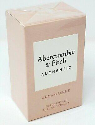 Abercrombie & Fitch Authentic Perfume For Women 3.4oz / 100 ml Edp Spray New