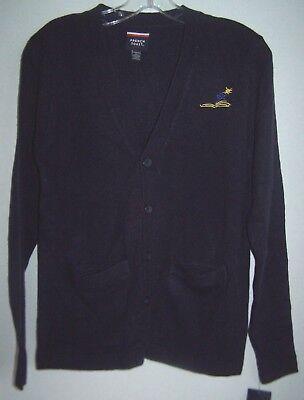 V-neck Kids Sweater (KIDS Navy Blue V-Neck Cardigan Sweater French Toast School Uniform Size XL 14/16 )