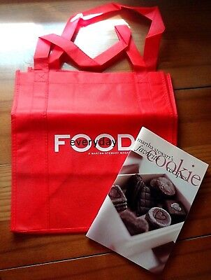 Martha Stewart Everyday Food Tote Bag & Favorite Cookie Recipes - New