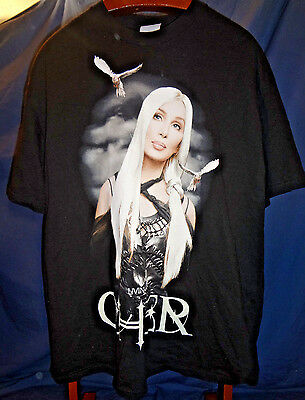 CHER Living Proof XL Concert Music Tour 2003 Balck Graphic T Shirt