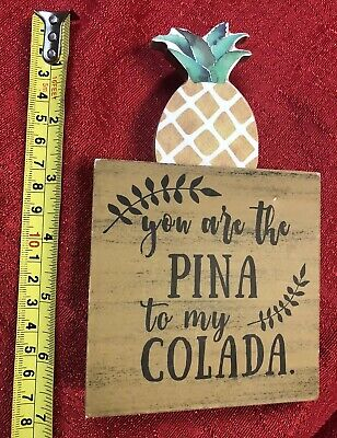 Decorate My Desk (Your The Pina To My Colada - Wood Tabletop Home Office Desk Decor Pineapple)