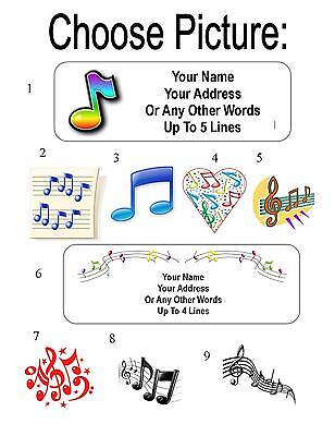 30 Music Note / Notes Personalized Address Labels
