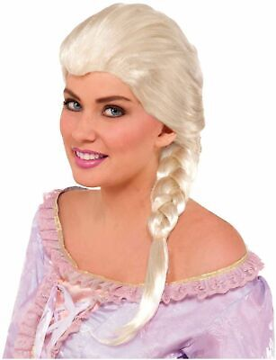 Princess Wig for Adults New by Forum Frozen Elsa Blonde Braided Wig 74232 - Princess Wigs For Adults