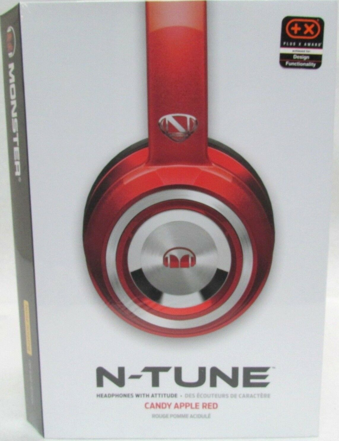 Monster NCredible NTune On-Ear Headphones Candy Red