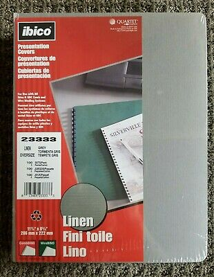 Ibico 100 Linen Presentation Covers 11 14 X 8 34 Legal Business Report 23333