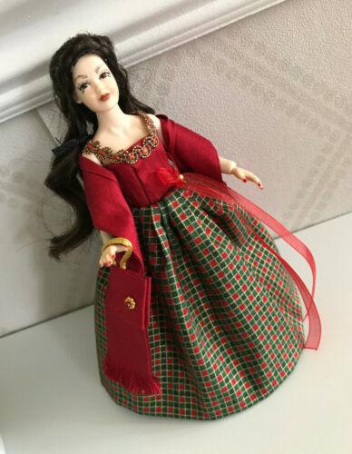 SILK / TARTAN DRESS 12th scale, doll