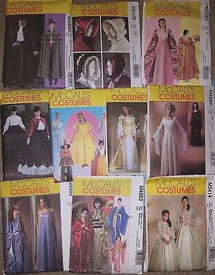McCALL'S COSTUME PATTERNS FOR ADULTS  ~ GEISHA, DISNEY PRINCESSES++, MANY OOP - Princesses Costumes For Adults