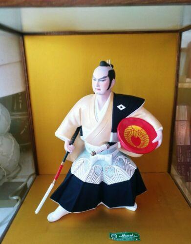 Japanese Traditional Hakata Kuroda Doll Samurai Warrior Size 39 cm Vintage Bushi