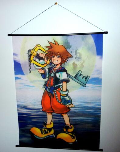 Final Fantasy  Wall Scroll  Store Display  Kingdom Hearts Great Cond. See Photos