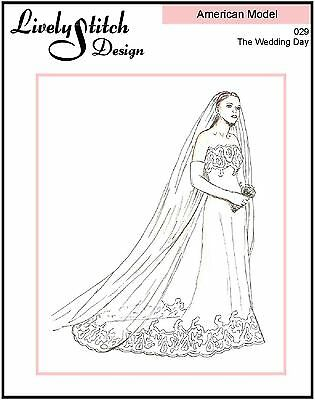 """The Wedding Day / sewing pattern for the 22"""" American Model doll by Tonner"""