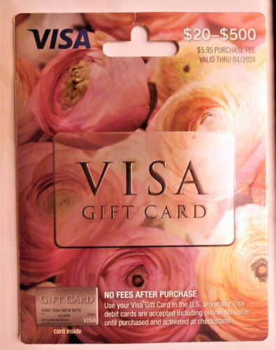 $200 VISA Card. No Fees, Ready to use.  Free 2-3 day Fast Delivery!