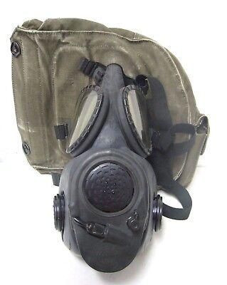 Vintage M17A2 1985 / 84 Series Gas Mask - Medium 65 MSA 2E8 with Mil Canvas Bag