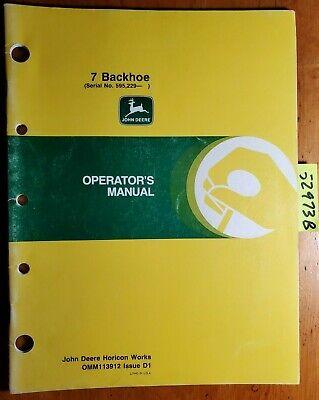 John Deere 7 Backoe Sn 595229- For 650 670 750 755 770 855 955 Tractor Manual