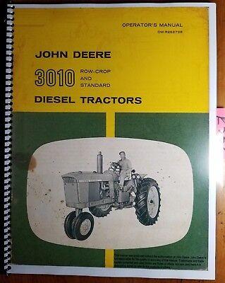 John Deere 3010 Row-crop Standard Diesel Tractor Owner Operators Manual 860