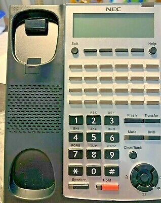 Nec Sl1100 24-button Ip Phone 1100161 Voip Poe Tested By Nec