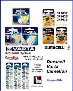 Piles-Cell-bouton-Camelion-Duracell-GP-B-Panasonic-Varta-CR2032-2025-2016