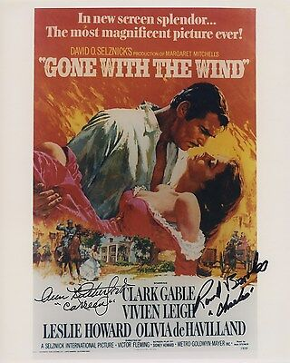 ANN RUTHERFORD RAND BROOKS SIGNED AUTOGRAPHED GONE WITH THE WIND 8X10 PHOTO