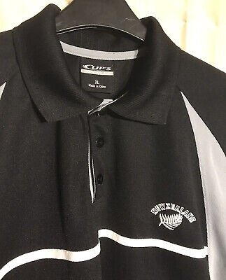 New Zealand 'All Blacks' Rugby Polo Shirt Size: XL (Extra Large) Breathable