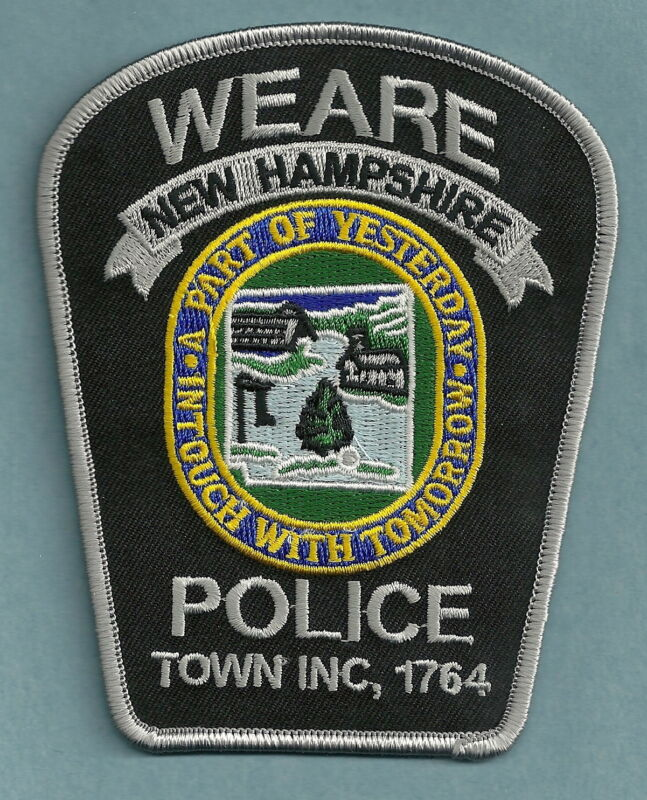 WEARE NEW HAMPSHIRE POLICE SHOULDER PATCH