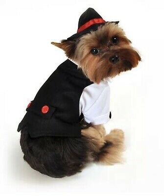 Gangster Halloween Costume Accessories (Anit Accessories Gangster Black Suit Red Tie Dog Halloween Costume)