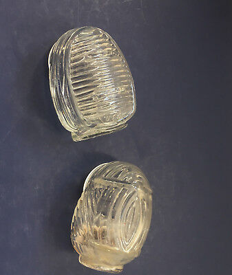 vintage glass art deco style bird cage feeder and water holder made in USA