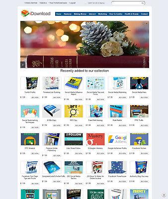 Ebooks  Digital Products Store Website    200  Items Preloaded