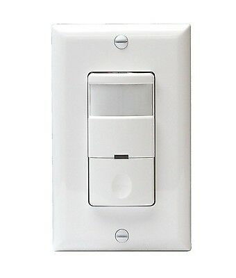 800w 120v 3-way Occupancy Motion Sensor Light Switch Detector White Pir Infrared
