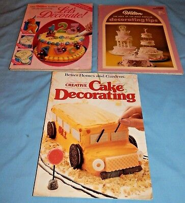 Lot of 3 Softcover Cake Decoration Books - Wilton & Better Homes and (Best Wilton Home Decorators)