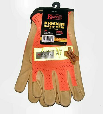 Kinco Gloves 909 X-large Pigskinorange Safety Mesh With Scotchlite