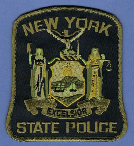 NEW YORK STATE POLICE SHOULDER PATCH TACTICAL GREEN