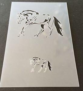 Horse Mylar Reusable Stencil Airbrush Painting Art Craft DIY home Decor