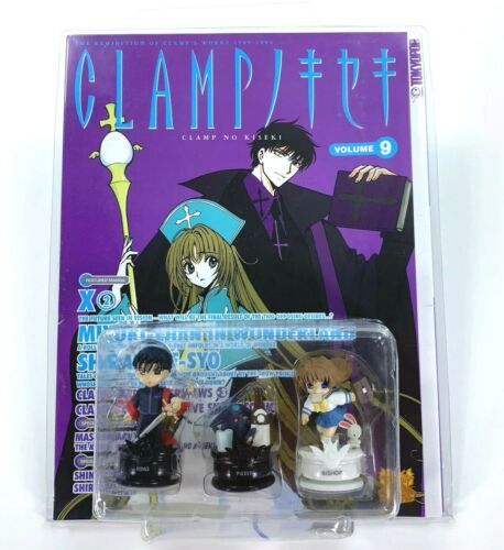 Clamp No Kiseki Volume 9 Book with Figures Anime Chess Pieces Figurines NEW