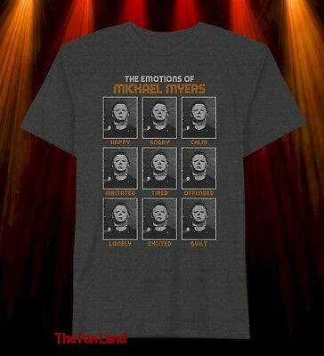 New Halloween Emotions of Michael Myers Movie Mens Vintage Classic T-shirt - Vintage Classic Halloween