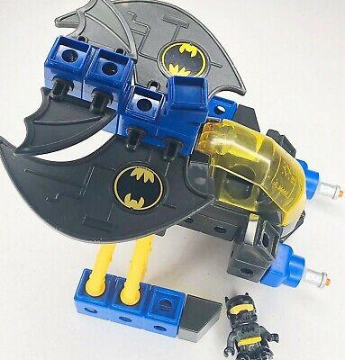 Fisher Price TRIO DC Super Friends Batwing & Batman Building Set Toy Bat Wing