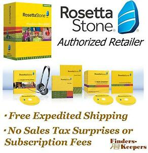 Rosetta-Stone-Portuguese-Level-1-Homeschool-Headset-Audio-Companion-BRAND-NEW