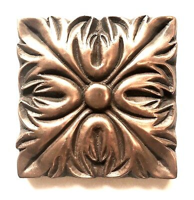 Bronze Metallic 4x4 Resin Decorative insert Accent piece Tile Backsplash Wall ()