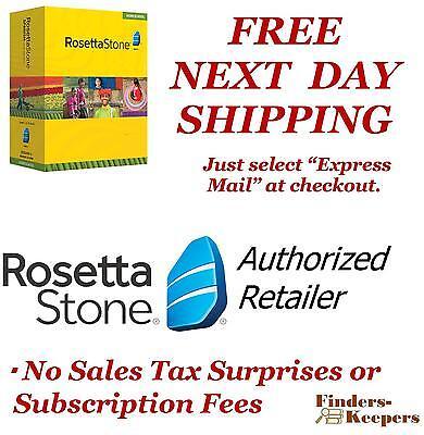 Rosetta Stone French 1 2 3 4 5 Homeschool +audio Compantion +headset Guaranteed